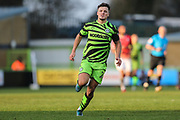 Forest Green Rovers Josh March(28) during the EFL Sky Bet League 2 match between Forest Green Rovers and Salford City at the New Lawn, Forest Green, United Kingdom on 18 January 2020.