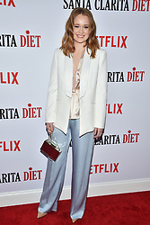 Liv Hewson attends Netflix's 'Santa Clarita Diet' Season 2 Premiere at The Dome at Arclights Hollywood on March 22, 2018 in Los Angeles, California. Photo by Lionel Hahn/AbacaPress.com