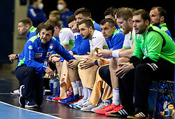 Ljubomir Vranjes, head coach of Slovenia during handball match between National Teams of Sweden and Slovenia at Day 3 of IHF Men's Tokyo Olympic  Qualification tournament, on March 14, 2021 in Max-Schmeling-Halle, Berlin, Germany. Photo by Vid Ponikvar / Sportida
