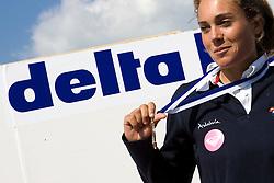 Medemblik - the Netherlands, May 31th 2009. Delta Lloyd Regatta in Medemblik (27/31 May 2009). Day 5, Medal races. Neil Pryde RS:X w Podium, gold for Blanca Manchon