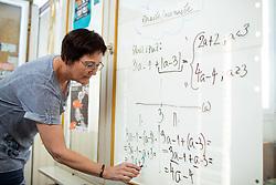 Portrait of mathematician Marta Zabret  on July 28, 2021 in Kamnik, Slovenia. Photo by Vid Ponikvar / Sportida