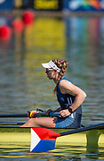 Plovdiv, Bulgaria, 10th May 2019, FISA, Rowing World Cup 1,  USA1,  W2-, Madeleine WANAMAKER, at the Start,[© Peter SPURRIER]