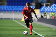 Cardiff city's Declan John in action. Pre season friendly match, Cardiff city v Athletic Club Bilbao at the Cardiff city stadium in Cardiff,  South Wales on Saturday 10th August 2013. pic by Andrew Orchard,  Andrew Orchard sports photography,