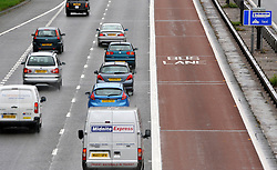 ©Licenced to London News Pictures. 14/11/10. FILE PICTURE. Work starts on the removal of the M4 bus lane. The Highways Agency said work starts on Monday night and traffic could begin using the whole lane later in the week. Picture caption should read Stephen Simpson/London News Pictures