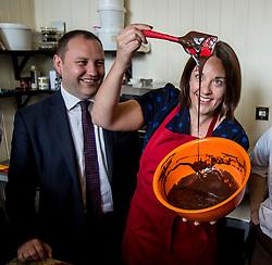 Scottish Labour leader Kezia Dugdale Edward & Irwyn chocolatiers in Edinburgh, as part of Labour's push to retain the Edinburgh South seat for Ian Murray.<br /> <br /> © Dave Johnston/ EEm