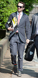 © Licensed to London News Pictures. 23/05/2012. Isleworth, London, U.K..Trenton Oldfield, 36, arriving at Isleworth Crown Court where the case against him listed for a plea and case management hearing for when he caused the annual University Boat Race on the River Thames to be stopped for around half an hour after he was spotted swimming in the vessels' path as crews battled towards the finish. .Photo credit : Rich Bowen/LNP