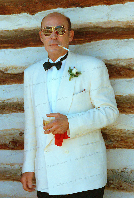 Hunter S. Thompson, author of Fear and Loathing in Las Photographed at his son's Juan wedding in Gold Hill, Colorado.