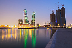View of Bahrain Financial Harbour district in Manama Bahrain