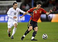 Fotball<br /> Spania v USA<br /> Foto: DPPI/Digitalsport<br /> NORWAY ONLY<br /> <br /> FOOTBALL - CONFEDERATIONS NATIONS CUP 2009 - 1/2 FINAL - SPAIN v USA - 24/06/2009 <br /> <br /> ALBERT RIERA (SPA) / LANDON DONAVAN (USA)