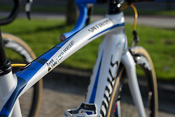 Anna van der Breggen's special edition, Specialized Amira at Ronde van Drenthe 2017. A 152 km road race on March 11th 2017, starting and finishing in Hoogeveen, Netherlands. (Photo by Sean Robinson/Velofocus)