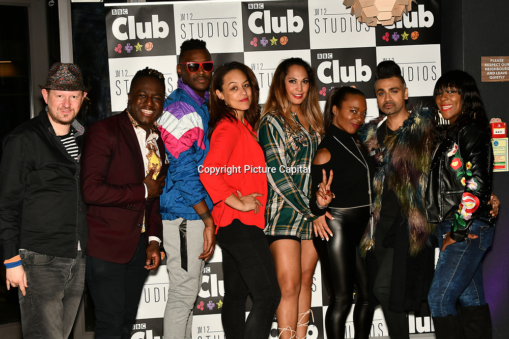Dom Borer ,Jordan Charles,Alfie Carreira,Caroline Morgan,HunnyB,tina T,Jay Kamiraz ,Mr Fabulous,Corene Campbell of the BBC One - All together now attend BBC Club at W12 Studios Lunch party on 14 March 2019, London, UK.
