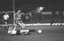 Liverpool's Craig Johnston tries to avoid a tackle