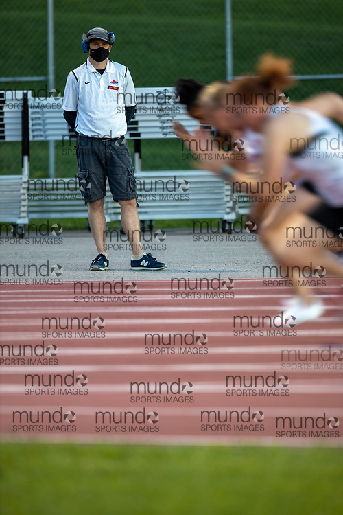 OTTAWA - August 19, 2020: Stuart Fast at the fifth Ottawa Summer Twilight Series meet of 2020, held under COVID-19 protocols at the Terry Fox Athletic Facility.