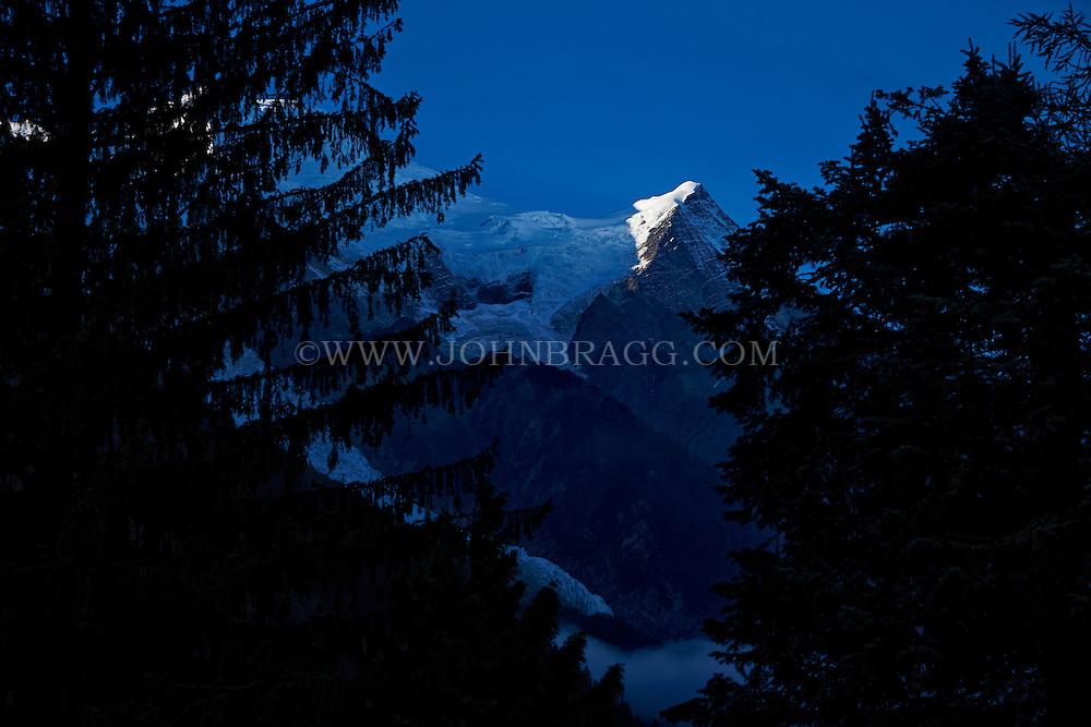 Sunrise view of Mont Blanc from Chamonix, France (Horizontal)