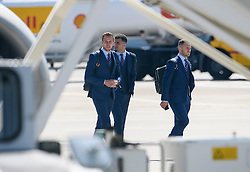 © Licensed to London News Pictures. 06/06/2016. Luton, UK. HARRY KANE, KYLE WALKER and JACK WILSHIRE  join other members of England national football squad as they board a plane at Luton airport in Bedfordshire, England, to head for their training camp in France, ahead of the start of the UEFA Euro 2016 championships.  Photo credit: Ben Cawthra/LNP