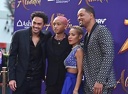 Naomi Scott and Mena Massoud arriving to the 'Aladdin' World Premiere at El Capitan Theatre. 21 May 2019 Pictured: Trey Smith, Jaden Smith, Jada Pinkett Smith and Will Smith. Photo credit: O'Connor/AFF-USA.com / MEGA TheMegaAgency.com +1 888 505 6342