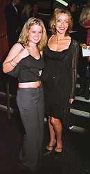 Actress SHARON MAUGHAN and her daughter ALICE EVE, at a film premier on 26th August 1998.MJL 73