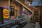 Graffiti in courtyard by Rodney Bedsole, an architecture photographer based in Nashville and New York City.