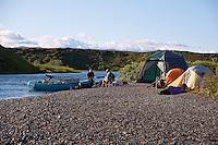 Camping, Pegati Lake, Headwaters of the Kanektok River..shot in Alaska, USA..