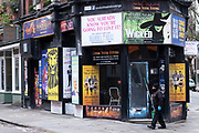 Closed theatre ticket shop in the West End as the national coronavirus lockdown three continues and theatres have to remain shut on 29th January 2021 in London, United Kingdom. Following the surge in cases over the Winter including a new UK variant of Covid-19, this nationwide lockdown advises all citizens to follow the message to stay at home, protect the NHS and save lives.
