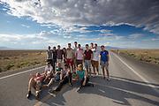 Het Human Power Team Delft en Amsterdam is op weg van Las Vegas naar Battle Mountain, saar de World Human Powered Speed Challenge wordt gehouden.