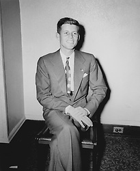 John F. Kennedy, the nation's 35th President, would have turned 100 years old on May 29, 2017. With the centennial anniversary of John F. Kennedy's birth, the former president's legacy is being celebrated across the nation. PICTURED: U.S. - File Photo - A young Kennedy seated in his Beacon Hill apartment. This was one of the earliest images used to promote his first political campaign in 1946. In commemoration of JFK's 100th birthday on May 29, 2017, RR Auction has curated an once-in-a-lifetime assortment of Kennedy artifacts, signed material, and photographs to celebrate the life of America's beloved 35th president. The more than 175 lots cover; JFK's early years, the transition to his congressional and senatorial careers, and 'The 1,000 Days of Camelot,' Kennedy's storied tenure as president. The special online offering is scheduled to begin on May 11 and will conclude on May 18, 2017. The R. Paloger photographs depict a fascinating and crucial period in JFK's life from 1946