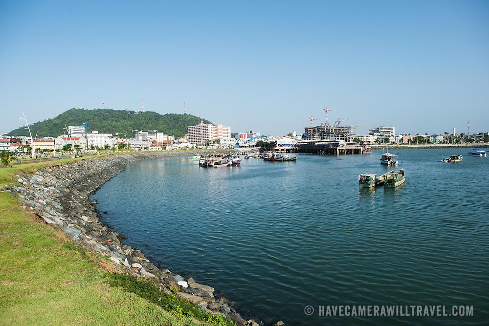 A small protected bay on the waterfront of Panama City, Panama, on Panama Bay.