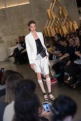 August 28, 2017 - Sao Paulo, Sao Paulo, Brazil - Model presents creation by Uma Raquel Davidowicz, during the Sao Paulo Fashion Week, N44 Summer 2018 edition, in Sao Paulo, Brazil. (Credit Image: © Paulo Lopes via ZUMA Wire)