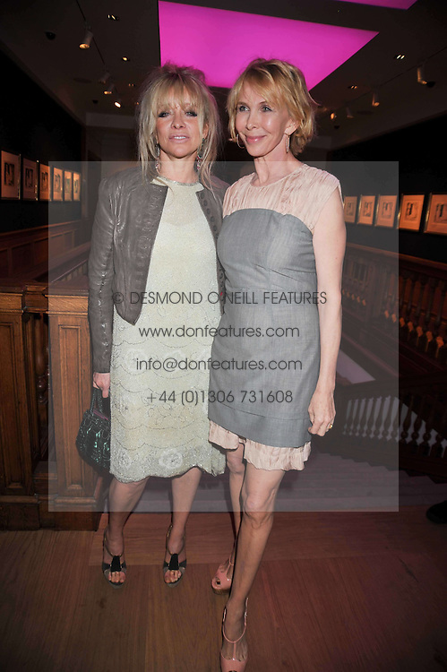 Left to right, JO WOOD and TRUDIE STYLER at fundraising dinner and auction in aid of Liver Good Life a charity for people with Hepatitis held at Christies, King Street, London on 16th September 2009.