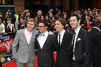 James Buckley; Simon Bird; Joe Thomas; Blake Harrison The Inbetweeners Movie world premiere, Vue Cinema, Leicester Square, London, UK, 16 August 2011:  Contact: Rich@Piqtured.com +44(0)7941 079620 (Picture by Richard Goldschmidt)