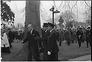 The State Funeral of Sir Alfred Chester Beatty at Glasnevin Cemetery, Dublin.<br /> 29.01.1968