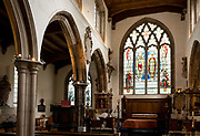 The interior of St Olaves Church on the corner of Seething Lane in the City of London, on 30th May 2018, in London, England.