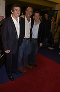 """STEVE COOGAN, JAMES NESBITT AND ROB BRYDON<br />. UK Premiere of """"A Cock And Bull Story"""" at Cineworld Cinemas, Haymarket  AND AFTERWARDS AT SOHO HOUSE.  The film by director Michael Winterbottom is a literary adaptation of """"The Life And Opinions Of Tristram Shandy, GENTLEMAN. 16 January 2006. Gentleman ONE TIME USE ONLY - DO NOT ARCHIVE  © Copyright Photograph by Dafydd Jones 66 Stockwell Park Rd. London SW9 0DA Tel 020 7733 0108 www.dafjones.com"""