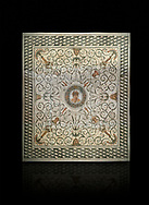 Pictures of a Roman mosaics design depicting the Four Seasons, from the Maison de la Procession Dionysiaque, ancient Roman city of Thysdrus. 2nd century AD. El Djem Archaeological Museum, El Djem, Tunisia. .<br /> <br /> If you prefer to buy from our ALAMY PHOTO LIBRARY Collection visit : https://www.alamy.com/portfolio/paul-williams-funkystock/roman-mosaic.html . Type - El Djem - into the LOWER SEARCH WITHIN GALLERY box. Refine search by adding background colour, place, museum etc<br /> <br /> Visit our ROMAN MOSAIC PHOTO COLLECTIONS for more photos to download as wall art prints https://funkystock.photoshelter.com/gallery-collection/Roman-Mosaics-Art-Pictures-Images/C0000LcfNel7FpLI