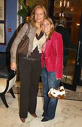Left to right, KATIE TURNER and VICKY LEE at a fashion show with designs by Irish designer Louise Kennedy held in the Blue Bar, Berkeley Hotel, London on 12th May 2005.<br /><br />NON EXCLUSIVE - WORLD RIGHTS