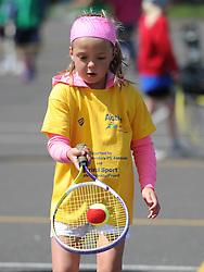 Children play tennis during the Bristol Sport Youth Festival - Photo mandatory by-line: Dougie Allward/JMP - Mobile: 07966 386802 - 06/06/2015 - SPORT - Multi-Sport - Bristol - SGS Wise Campus - Bristol Sport Festival Of Youth Sport - Festival Of Youth