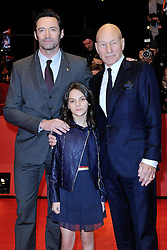 Patrick Stewart, Dafne Keen and Hugh Jackman attending the Logan Premiere during the 67th Berlin International Film Festival (Berlinale) in Berlin, Germany on Februay 17, 2017. Photo by Aurore Marechal/ABACAPRESS.COM