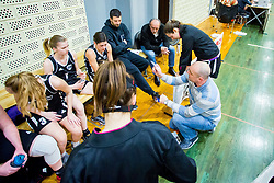 Ziga Ravnikar, head coach of ZKD Maribor during basketball match between ZKK Triglav Kranj and ZKD Maribor in Round #1 of 1. Slovenian Woman basketball league, on February 20, 2018 in ŠD Planina, Kranj, Slovenia. Photo by Ziga Zupan / Sportida