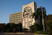 Placa de la revolution, revolution square, Havana, picture of Che Guevara.