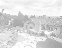 1925 West elevation of main house with servants house at left at 1847 Camino Palmero