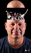 UVa baseball pitching coach Karl Kuhn. Photo/The Daily Progress/Andrew Shurtleff