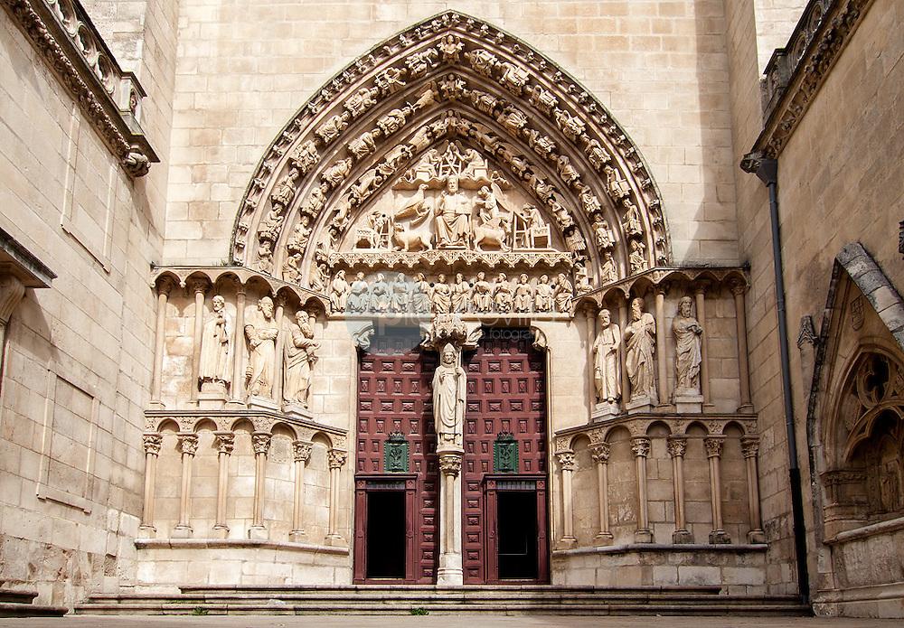 Detalle pórtico de entrada de la Puerta del Sarmental de la Catedral de Burgos. Castilla y León. España, Europa ©Javier Abad / PILAR REVILLA