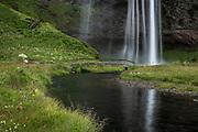 Seljalandsfoss waterfall is in south Iceland