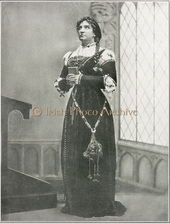 'Nellie Melba (1861-1931) Australian operatic soprano, born Helen Porter Mitchell. A world famous singer of her day, she first appeared at Covent Garden in 1888. Melba as Marguerite in Gounod's ''Faust''.'