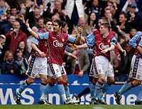 Photo: Glyn Thomas.<br />Aston Villa v Birmingham City. The Barclays Premiership. 16/04/2006.<br /> Aston Villa's Milan Baros (L) celebrates scoring his second goal.