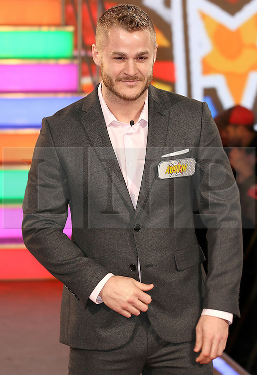 © Licensed to London News Pictures. 03/01/2017. London, UK, Austin Armacost, Celebrity Big Brother: WInter 2017 - Live Launch Show, Photo credit: Brett Cove/LNP