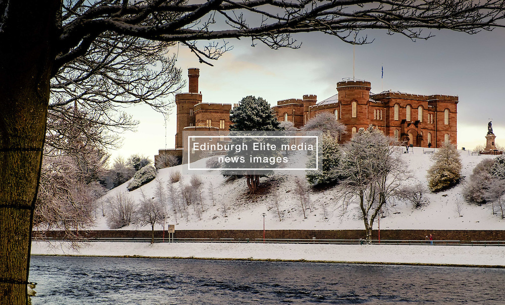 Inverness Castle in winter with a dusting of snow<br /> <br /> (c) Andrew Wilson   Edinburgh Elite media