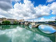 Bridge over the Isere at Romans-sur-Isere, France