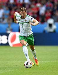 Jonny Evans of Northern Ireland  - Mandatory by-line: Joe Meredith/JMP - 25/06/2016 - FOOTBALL - Parc des Princes - Paris, France - Wales v Northern Ireland - UEFA European Championship Round of 16