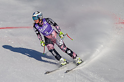 20.01.2018, Olympia delle Tofane, Cortina d Ampezzo, ITA, FIS Weltcup Ski Alpin, Abfahrt, Damen, im Bild Tina Weirather (LIE) // Tina Weirather of Liechtenstein reacts after ladie' s downhill of the Cortina FIS Ski Alpine World Cup at the Olympia delle Tofane course in Cortina d Ampezzo, Italy on 2018/01/20. EXPA Pictures © 2018, PhotoCredit: EXPA/ Dominik Angerer